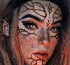 Witch Makeup, Elf Makeup, Cosplay Makeup, Costume Makeup, Makeup Art, Halloween Makeup, Elf Cosplay, Makeup Inspo, Makeup Inspiration