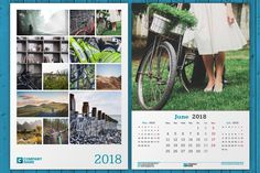 Wall Calendar 2018 (WC30) by mikhailmorosin on @creativemarket