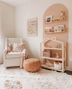Baby Room Decor, Nursery Room, Girl Nursery, Girls Bedroom, Baby Room Design, Dollhouse Shelf, House Shelves, Baby Room Shelves, Big Girl Rooms