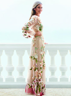 Aerin Lauder floral dress.