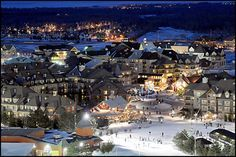 ~ Blue Mountain Ski Resort Viewed From Top Of Niagara Escarpment ~ Collingwood, Ontario ~ lwy Places To See, Places To Travel, The Places Youll Go, Ski Canada, Best Ski Resorts, Romantic Weekend Getaways, Toronto, Mountain Photography, Mountain Resort