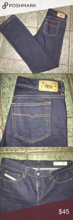 Diesel Men's Slim Straight Stretch Boot Cut 👖 New without tags, 30x32 Dark wash. No rips/stains/flaws. Diesel Jeans Slim Straight