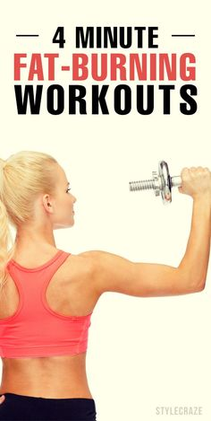 Workout Routines For The Gym : 4 Minute Fat-Burning Workouts. - All Fitness Weight Loss Tips, Lose Weight, 10 Minute Ab Workout, Abs Workout Routines, Gym Workouts, Quick Workouts, Fat Burning Workout, Lose 20 Pounds, Workout For Beginners