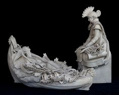 """Clea Carlsen """"Release"""". A powerful ceramic sculpture responding to the death of a loved one who fell to breast cancer."""