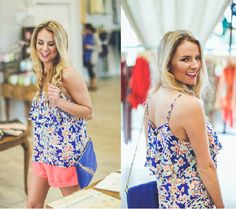 Beat the heat in this PRETTY Watercolor Floral Tank in Blue! ONLY $30 at Entourage!