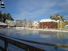 Here, you can skate in the romantic setting of Strawbery Banke, one of the oldest settlements in New Hampshire.