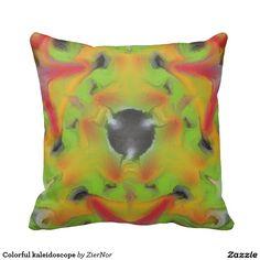 Colorful kaleidoscope pillow