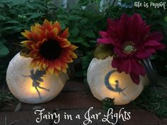 Fairy in a Jar Night-Lights - Life is Poppin' - How about using angel silhouettes for Christmas ornaments?