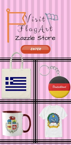 Visit FlagArt Zazzle Store for Product With flag and coat of arms on it. Get it on bags, keychain, cups, t-shirts and more.