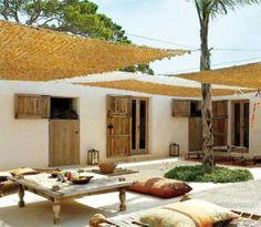 Pergola For Small Backyard Code: 8515714711 Outdoor Rooms, Outdoor Living, Outdoor Decor, Terrazas Chill Out, Porch And Terrace, Interior And Exterior, Interior Design, Ibiza, New Homes