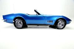 1968 Chevrolet, Corvette   LeMans Blue 1968 Corvette Big Block roadster with numbers matching 427/390 HP, power steering & brakes, Automatic, New BFGs on Rally rims EXTERIOR Striking Lemans blue paint, on a beautiful corvette body, with great panel fit and body lines. The paint was just wet sanded to a mirror finish, lots of new chrome and new white top. INTERIOR Beautiful dark blue interior that has been recently updated with new seat covers. Very nice dash with clear instrume..