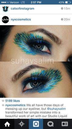 Eye makeup for peacock