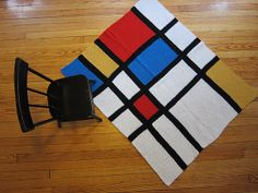"""Adorable crochet afghan! Mondrian Afghan designed by FreshStitches From the book """"Modern Baby Crochet"""" #primary #nursery"""