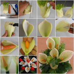 How to DIY Fennel Flower Garnish for Salad | www.FabArtDIY.com