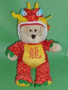 Starbucks Chinese New Year of the Dragon Plush Bearista Bear 2012 #Starbucks
