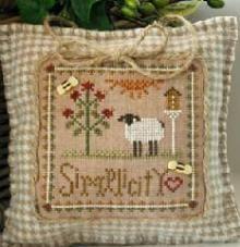 Simplicity. Gráfico de la serie Little sheep Virtue de Little House needlework. En www.lacasinaroja.com