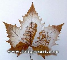 Check out these amazing 30 Creative Superb Art of Leaf Carving Autumn Art, Autumn Leaves, Dry Leaf Art, Pressed Leaves, Painted Leaves, Cool Artwork, Amazing Artwork, Nature Crafts, Botanical Art