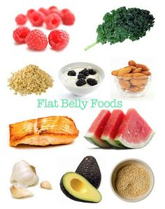 10 flat belly foods