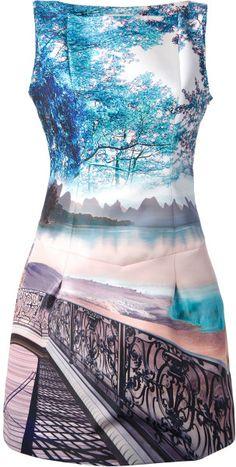 mary katranzou Kardia Printed Dress - Lyst