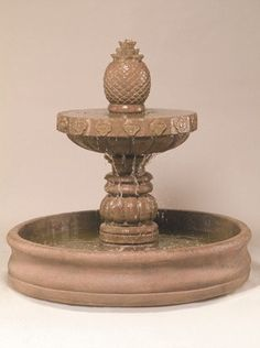 Mariposa Outdoor Water Fountain With 55 Inch Basin