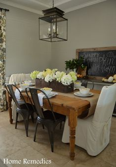 Rustic Fall Dining Room | Home Remedies