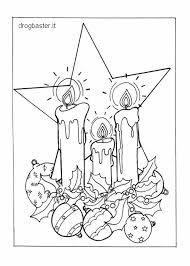 Risultati immagini per disegni di natale da colorare candele