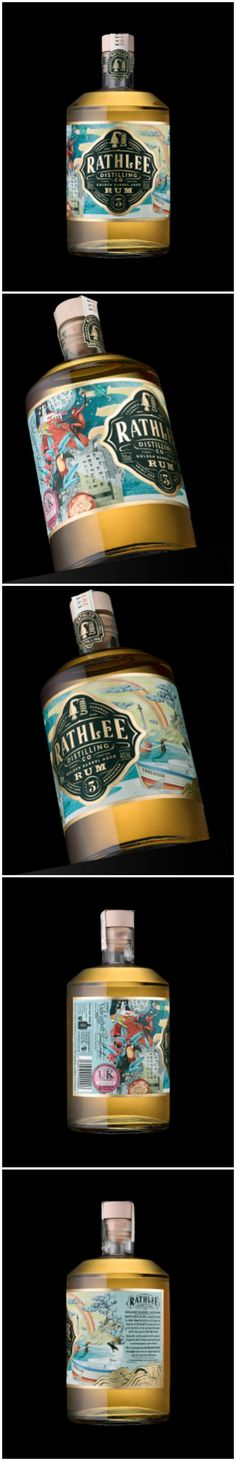 Golden Barrel Aged Run, Packaging Design by Stranger and Stranger Design Agency:Stranger & Stranger Project Name:Rathlee Rum Location: United States of America Category: #Spirits #Rum  World Brand & Packaging Design Society
