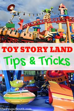 Tips and tricks for visiting Toy Story Land at Disney World! Rides, food, characters, FastPass, maps, attractions, dining with menus and more! #disneyworld