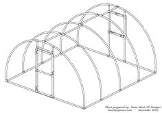Instructions on how to build an arched greenhouse with PVC