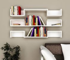 Beautiful Wall Book Shelves For Book Readers Id805 - Modern Storage Unit Designs - Furniture Designs - Product Design