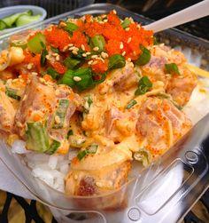 North Shore Hawaiian Ahi Poke with Waimea sauce (spicy mayonnaise). My favorite dish at this joint!