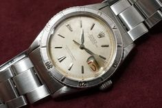 ROLEX Datejust Ref-6609 Thunderbird Patina Dial(1958y) SS 1,280,000 +T 2016.6.30.