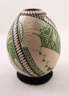 "Tanner Chaney : Mata Ortiz Pottery Ana Veloz Polychrome Pot J5057, $147, 6.5""h"
