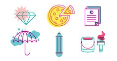 How to create limited color line icons in Illustrator