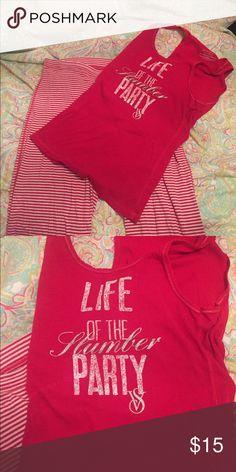 Victoria's Secret pajama set Super comfy pajama set - worn about 3 times. Victoria's Secret Intimates & Sleepwear Pajamas
