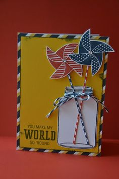 Scrappy Hour card with Pinwheels - CTMH May SOTM.