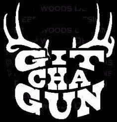 Deer Hunting Logos | git cha gun deer hunting decal