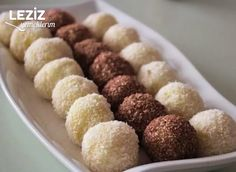 Az Malzemeli İrmik Topları Tarifi – Tatlı tarifleri – The Most Practical and Easy Recipes Balls Recipe, Homemade Beauty Products, Biscotti, Granola, Dog Food Recipes, Almond, Yummy Food, Meals, Dinner