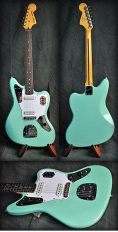 Squier Vintage Modified Jaguar Electric Guitar in Seafoam Green