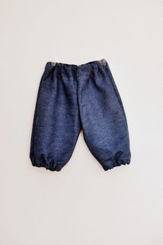 Baby girls denim cotton baggy bloomer type summer trousers pants 1-2 yrs