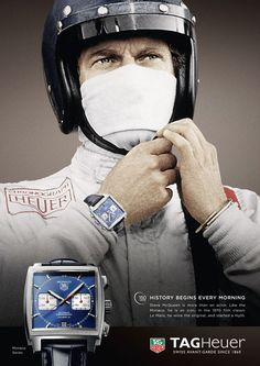 Steve McQueen for TAG Heuer Ad