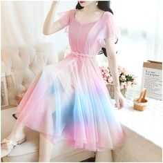 Cute Skirt Outfits, Pretty Outfits, Pretty Dresses, Beautiful Dresses, Korean Fashion Dress, Kpop Fashion Outfits, Fashion Dresses, Stylish Dresses For Girls, Elegant Dresses