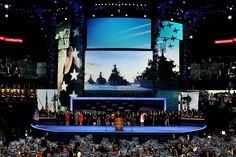Note to Democrats: If you want to convince people that you're pro-U.S. military, don't showcase Soviet-era Russian warships and Turkish fighter jets at your convention.