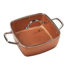 Master mealtime with the cooking performance of this Copper Chef casserole pan. Copper Chef Square Pan, Cooking Venison Steaks, Copper Cooking Pan, Cooking Measurement Conversions, Cooking Brussel Sprouts, Online Cooking Classes, Casserole Pan, Cooking Bread, Cooking Bacon