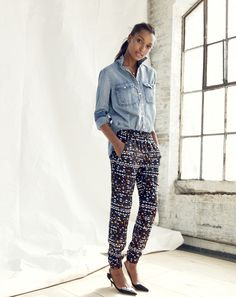 J.Crew Turner pant in hidden floral. I really like these but don't know if I could pull them off.