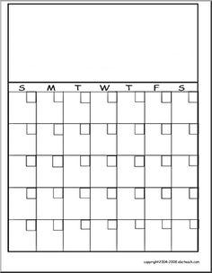 Calendar Template Student Homework Kids Monthly Behavior Family