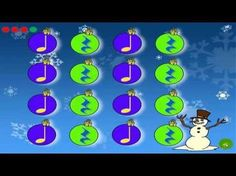 """""""Sleigh Ride"""" Leroy Anderson - YouTube: Rhythms for instruments or clapping"""