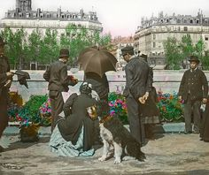 Then: Flower-buying, looking towards the Right Bank.