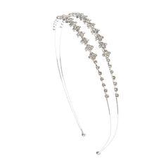 Crystal Diamonds Double Row Headband