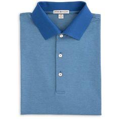 Peter Millar   Felix Houndstooth Jacquard Cotton Polo
